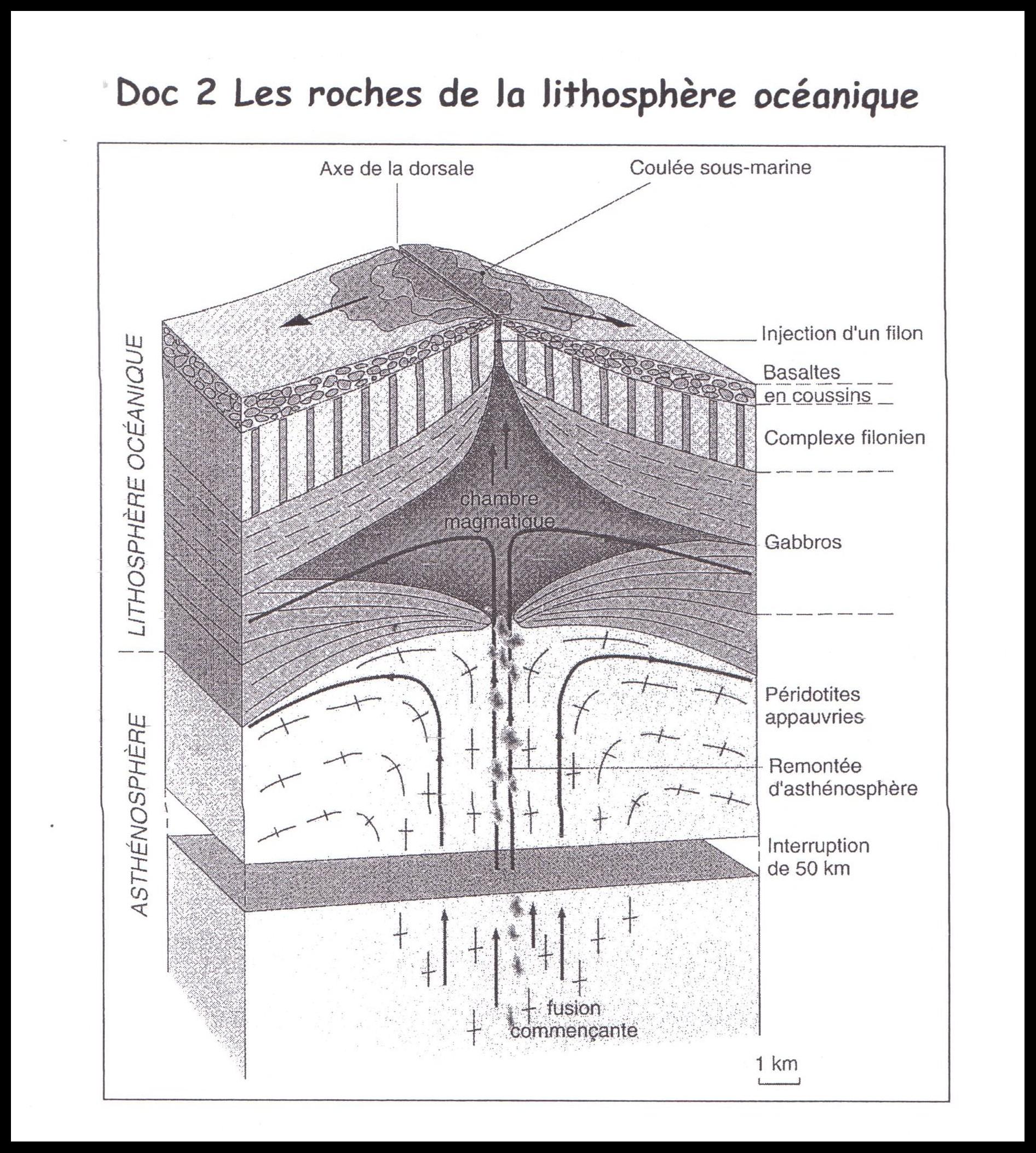 Non class la lithosph re oc anique du mont chenaillet for Chambre magmatique